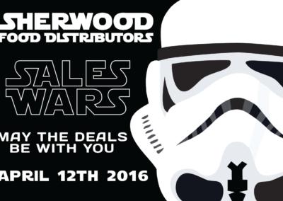 Sales Wars Invite | Print Front