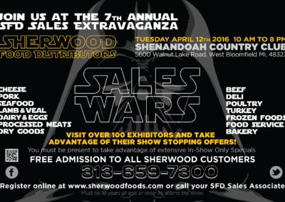 Sales Wars Invite | Print Back